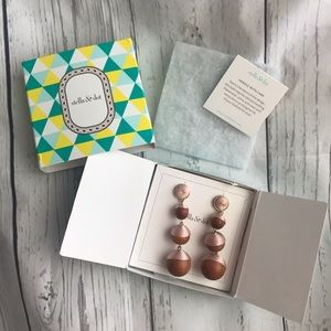 NWT Stella And Dot | Link Pink And Wood Earrings